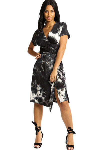 Wrapped Style Midi Dress