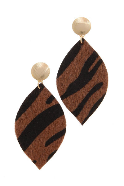 Animal Print Post Drop Earring