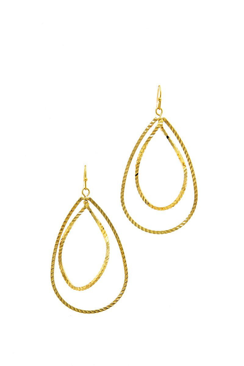 Modern Fashion Plated Brass Drop Earring