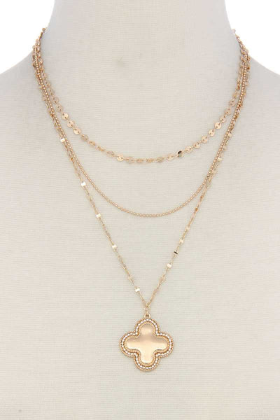 Cross Charm Y Shape Layer Necklace