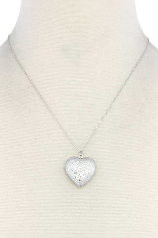 Heart Shape Locket Metal Necklace