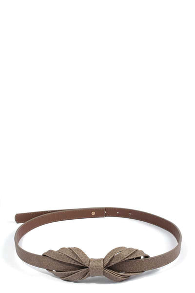 Bow Pu Leather Belt