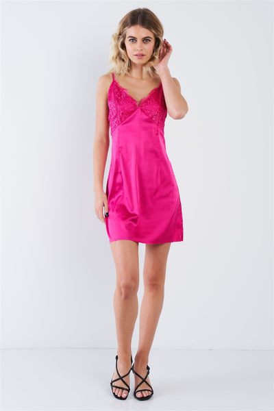Silk Leave Trim Raw Hem Criss-cross Back Mini Chic Dress