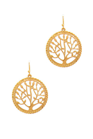 Stylish Circle Tree Drop Earring