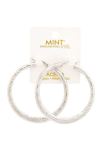 Trendy Chic 50 Mm Hoop Earring