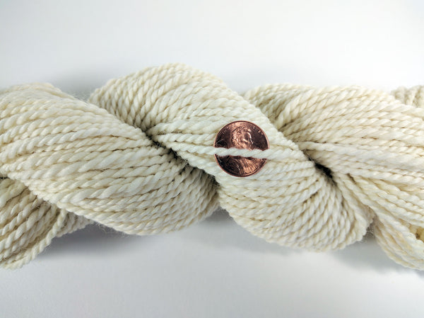 Natural White Handspun Wool yarn