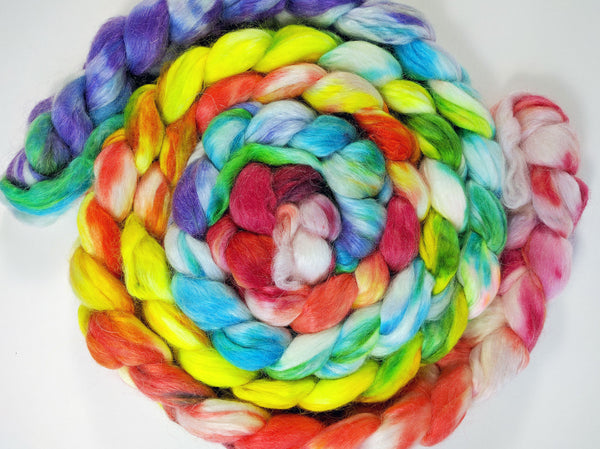 Hand Painted Silk Mohair Roving