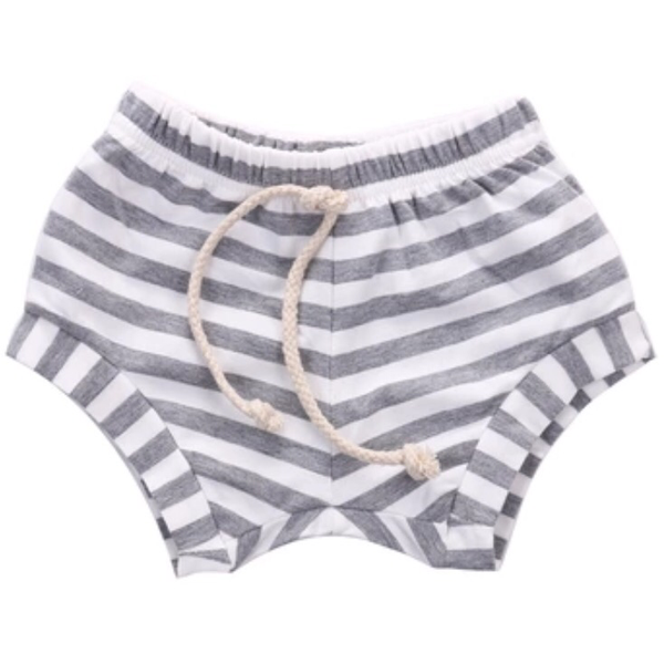 Stripe Shorts - Grey