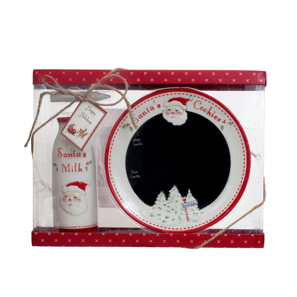 Santa's Message Plate Set