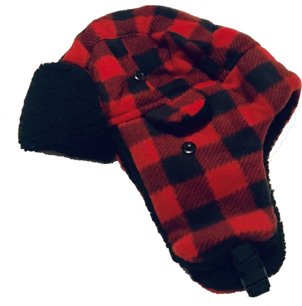 Plaid Sherpa Lined Hat (4-6T)