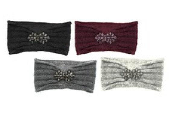 Ladies Knitted Jewelled Headband