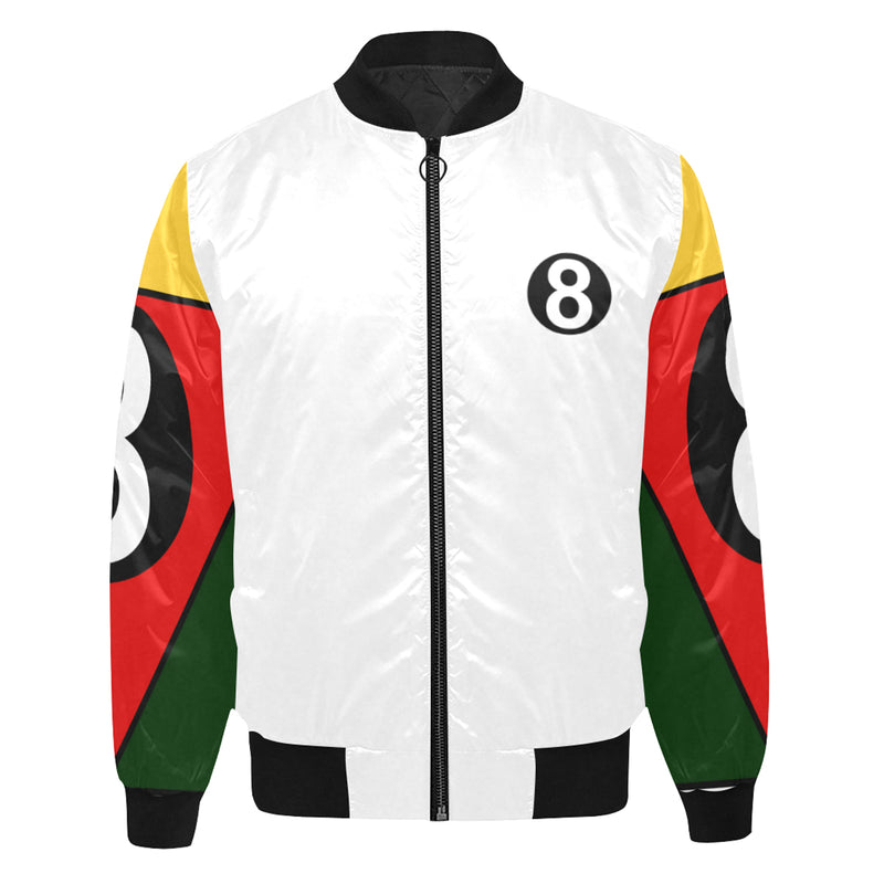 White 8 Ball Jacket - Black Trim