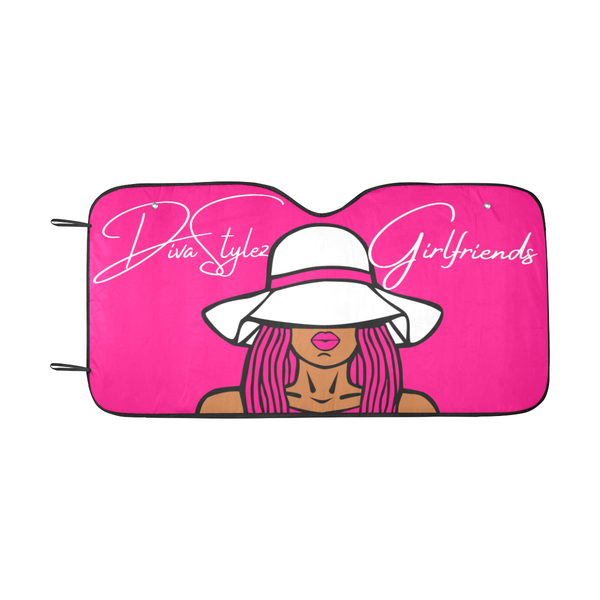 DivaStylez Car Shade - Pink
