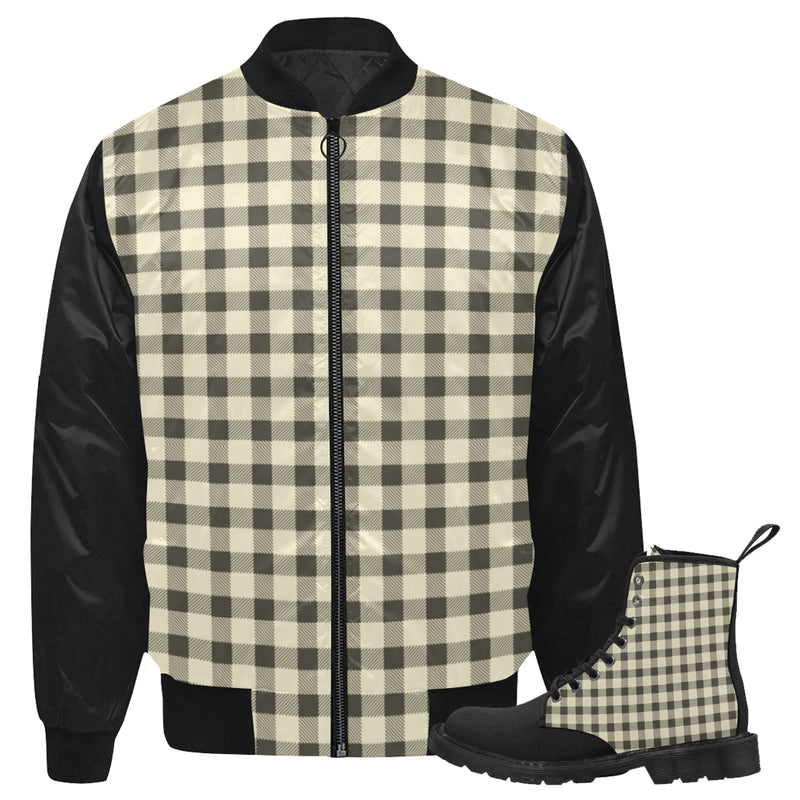 Gingham Jkt & Boots Set
