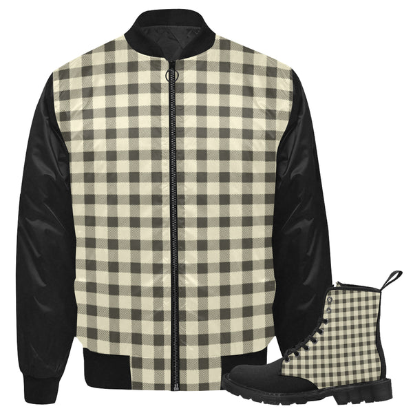Gingham Plaid Jacket