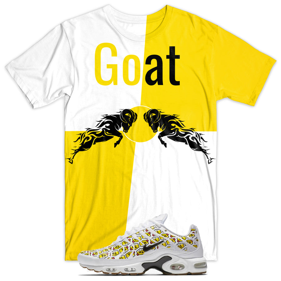 Goat Tee - Yellow/White
