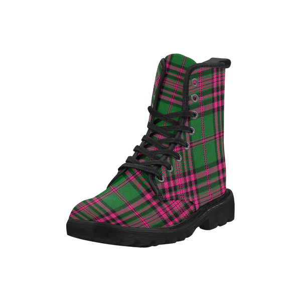 Pink Green Combat Boots