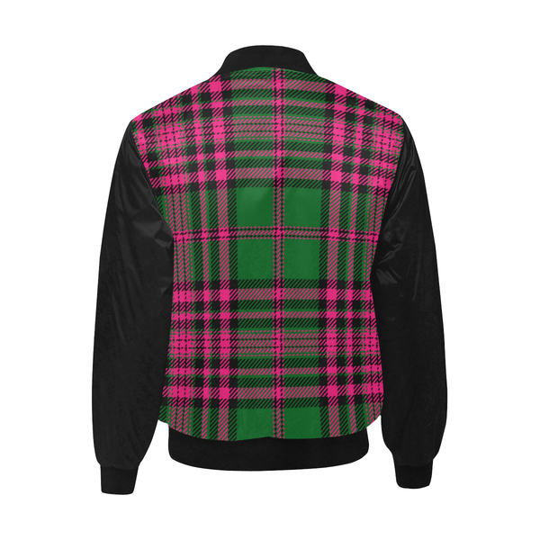 Pink Green Plaid Jacket