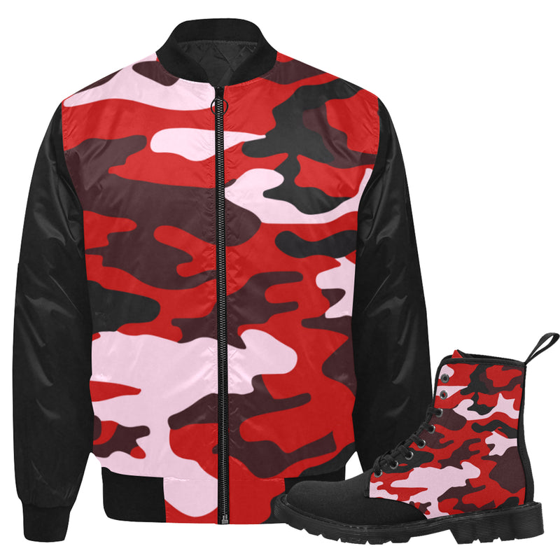 Red Camo Jkt & Boots Set