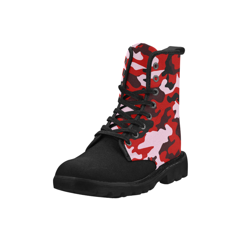 Red Camo Combat Boots