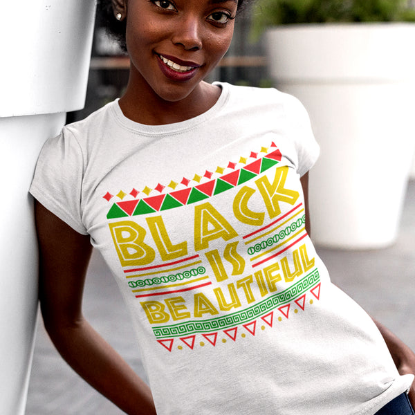 Black is Beautiful TShirt - white
