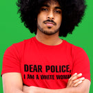 Dear Police I Am a Black Woman TShirt - black