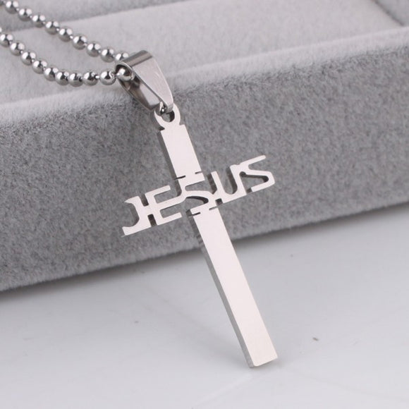 Discounted Stainless Steel Jesus Cross Necklaces