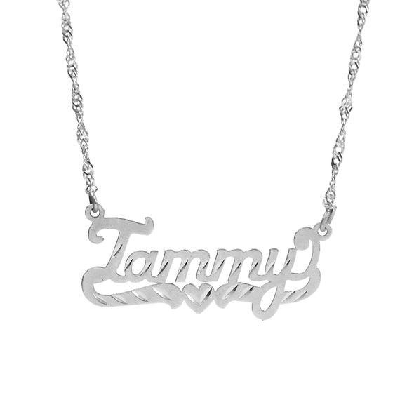 Personalized Name Pendant in Diamond cut