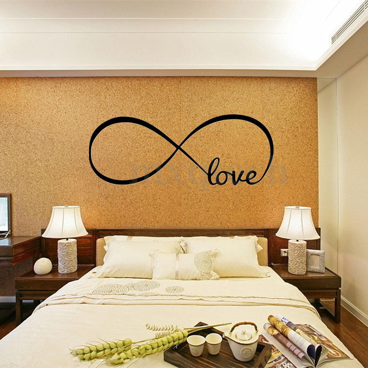 Love Bedroom Decor Love Removable Wall Stickers Art Vinyl Quote Decal Mural Home