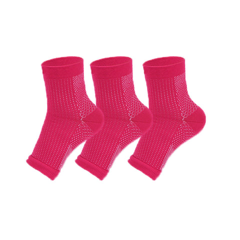 3 Pair - Anti Fatigue Compression Foot Sleeve Socks