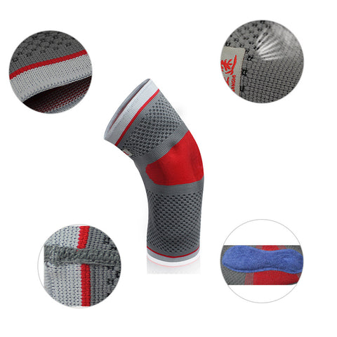 Elbow Compression Sleeve Silicone Pad Support