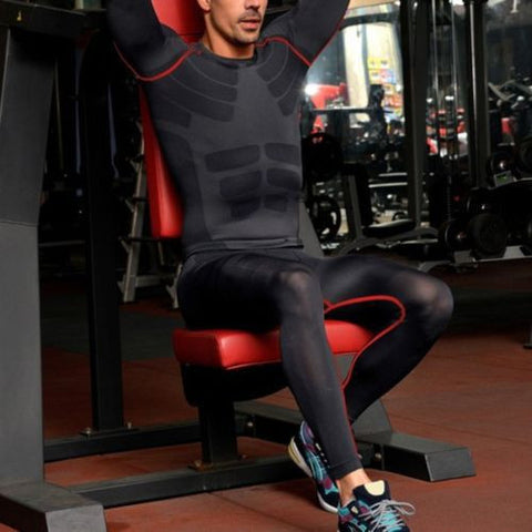 Mens Athletic Training Base Layer Compression Pants