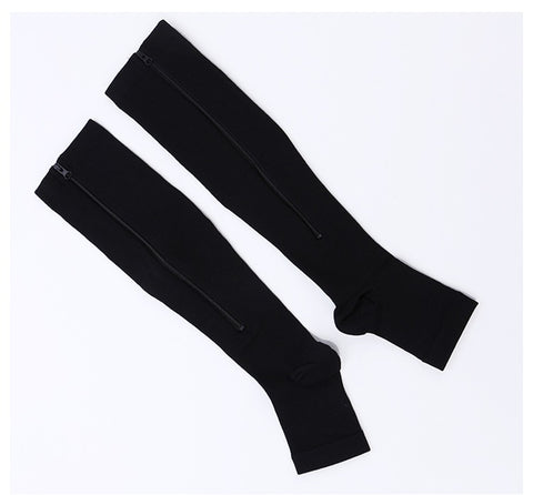 Antifatigue Compression Stockings - Open Toe - Zipper FREE Offer