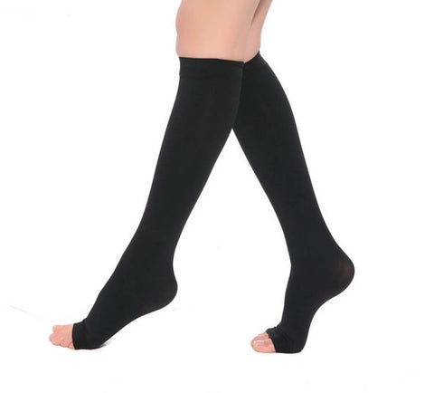Anti-Fatigue Knee High Compression Stockings Open Toe