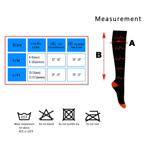 Over-the-Calf Compression Socks w/ Designs