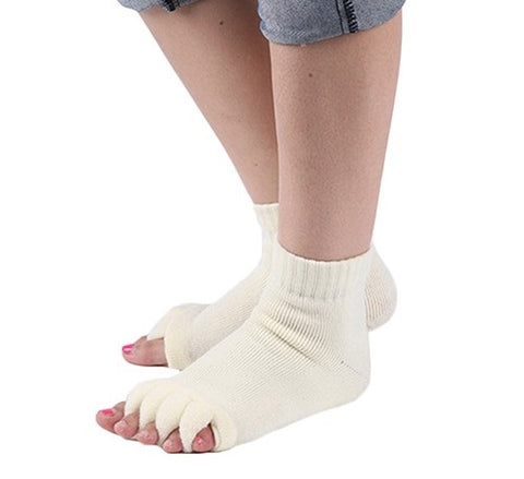 3 Pair - Five Toe Socks - Massage Toe Separator