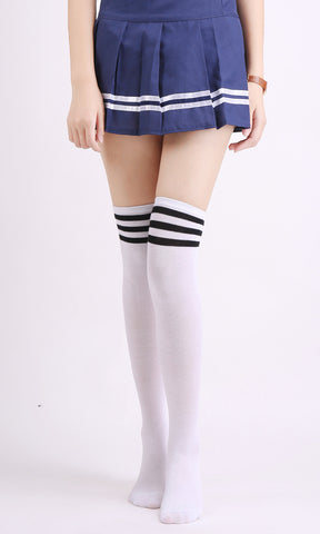 Thigh High Striped Stockings