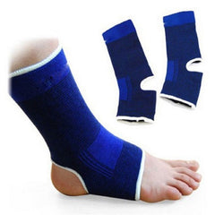 2Pcs Elastic Ankle Support Brace Compression Wrap Sleeve Sports Relief Pain Foot