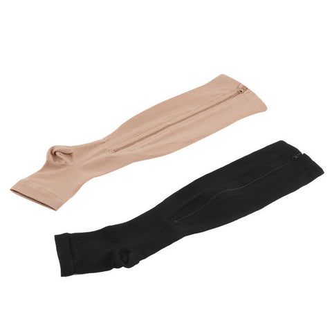 Antifatigue Compression Stockings - Open Toe - Zipper