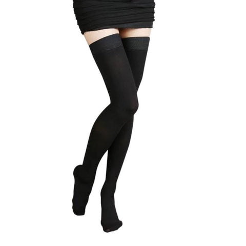 Thigh-High Medical Compression Leg Stockings