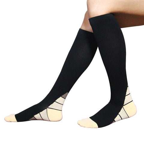 3 Pair - Anti Fatigue Thigh High Compression Stockings