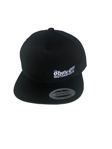 Show Off Black Hat (Snapback -No Mesh) Hats