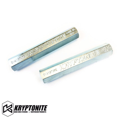 Kryptonite Solid Steel Tie Rod Sleeves Zinc Plated 2011+ Steering Components 11-17