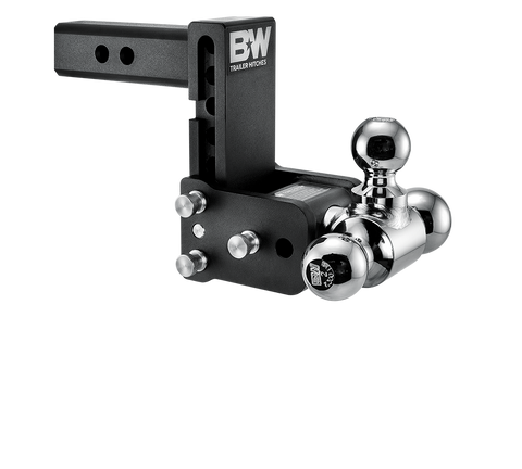 B&w Tow Stow Adjustable Ball Mount 5 Drop - 5.5 Rise 2 Shank Black Truck Accessories