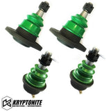 Kryptonite Upper And Lower Ball Joint Package Deal (For Aftermarket Control Arms) 2001-2010 Green