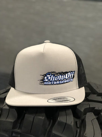 Show Off Light Grey & Black (Mesh Snapback) Hats