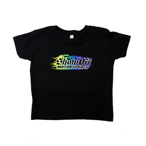 Toddler/youth Multicolored Flame Logo T-Shirt Show Off Shirts