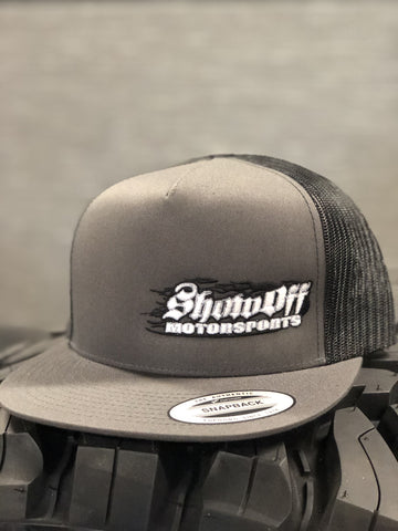 Show Off Light Dark Grey & Black (Mesh Snapback) Hats