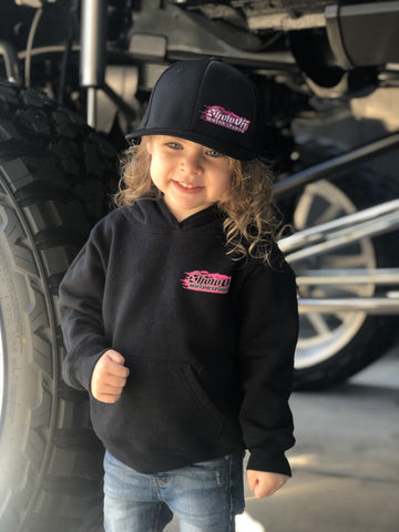 Toddler Hot Pink Flame Logo Hoodie