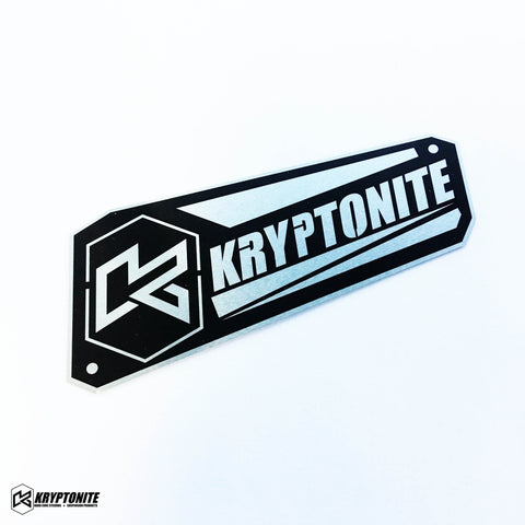 Kryptonite Upper Control Arm Logo Plate 2011-2019 Steering Components 11-19